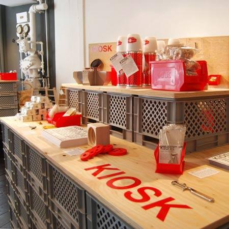 loja pop-up KIOSK para o London Design Festival